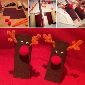 One of our favourite projects in our Advent Calendar of Christmas Activities is this Rudolph the Reindeer Paper Roll Craft. Very tactile, great finemotor fun, and cute results!