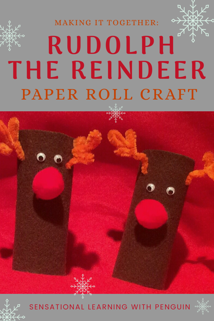 One of our favourite projects in our Advent Calendar of Christmas Activities is this Rudolph the Reindeer Paper Roll Craft. Very tactile, great finemotor fun, and cute results! For more ideas, join us at sensationallearningwithpenguin.com