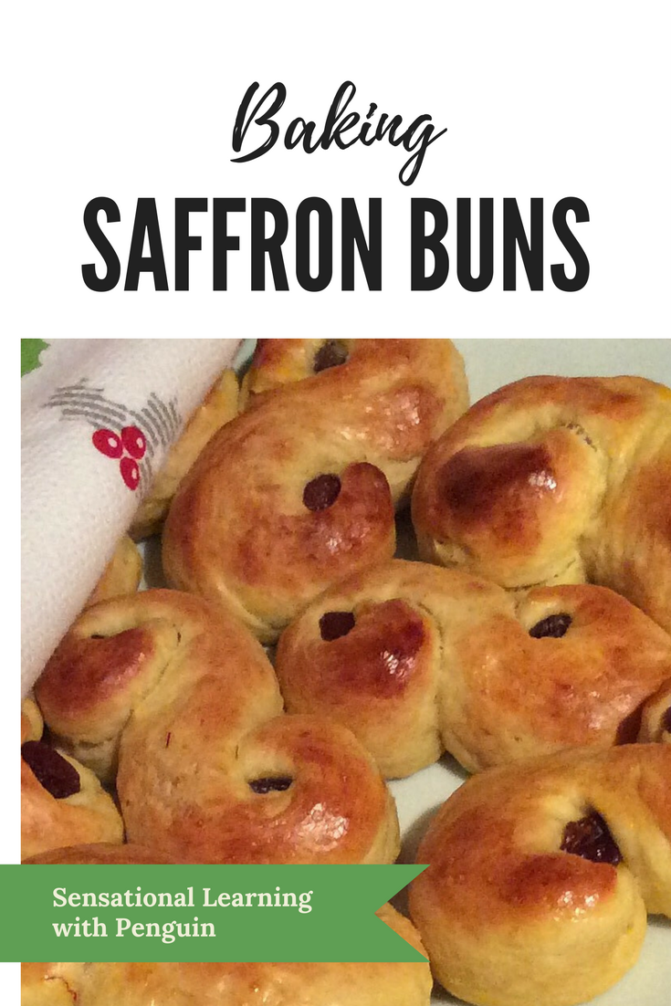 These Saffron Buns are a Scandinavian Christmas Tradition, and a must during the Lucia (St Lucy) Celebrations on 13 December every year. We love Baking Together, so for more post like this, join us at http://sensationallearningwithpenguin.com #homebaked #bakingwithkids #advent