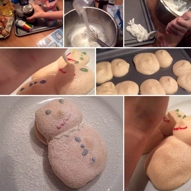 Meringue Snowmen a la 'Big Cook, Little Cook' - Sensational Learning with Penguin #cookingwithkids #simplerecipes #bakingwithkids