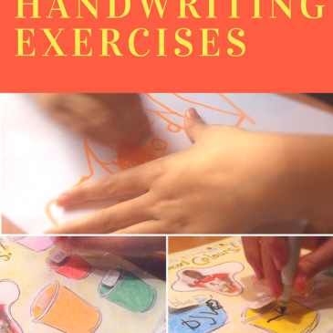 Motivating Handwriting Exercises - Sensational Learning with Penguin #NationalHandwritingDay How to use special interests to motivate special learners! 2 examples for fine motor skills, litteracy, colours and handwriting.