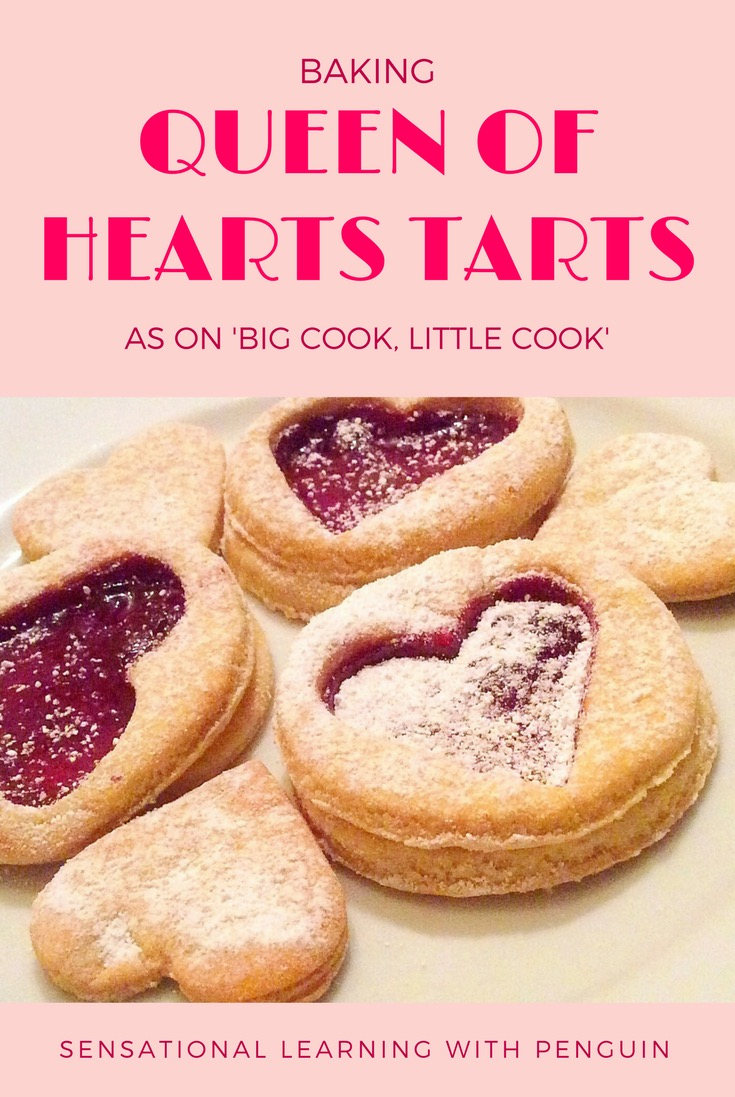 Baking Queen of Hearts Tarts as on 'Big Cook, Little Cook' - Sensational Learning with Penguin