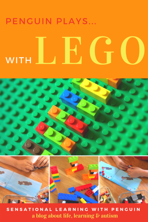 Building Lego together is a Fun way to work on a long list of Skills. Penguin is Autistic and has Developmental Delays, and Playing Together doesn't always come naturally...