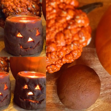 Homemade Pumpkin Pie Playdough + Lantern Activity! A Halloween Celebration from Sensational Learning with Penguin