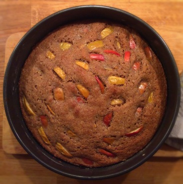 Baking Together - Spiced Apple Sponge Cake - sensationallearningwithpenguin.com
