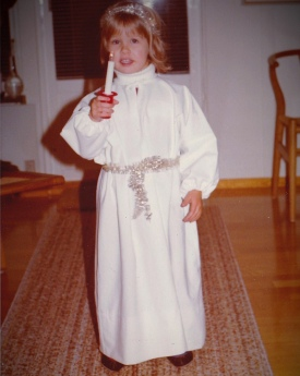 Lucia Celebrations - Me at 3