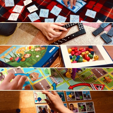 Playing Board Games is a great way to work on turn-taking, basic concepts, communication, numeracy, and more! #gameschooling #homeschooling #learningwithadifference