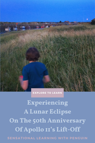 Experiencing a #LunarEclipse, on the 50th Anniversary of Apollo 11's Lift-Off! We had an extra magical evening walk on 16 July... #Moon #ExperientialLearning #HandsOnLearning #OutdoorClassrom #ExploreToLearn For more, visit us at http://sensationallearningwithpenguin.com