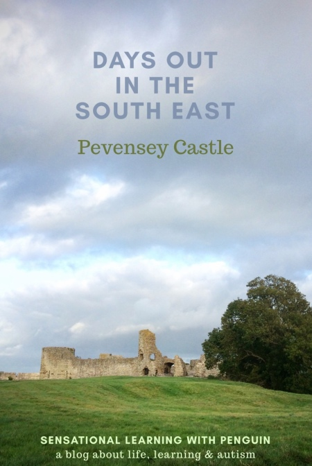 Days Out In The South East: Pevensey Castle. Learn about #EnglishHistory from #Roman times, #MiddleAges and #WorldWarII at this #EnglishHeritage site in #Sussex - For more family friendly days out in the south east, visit us at sensationallearningwithpenguin.com #homeschooling #specialneeds