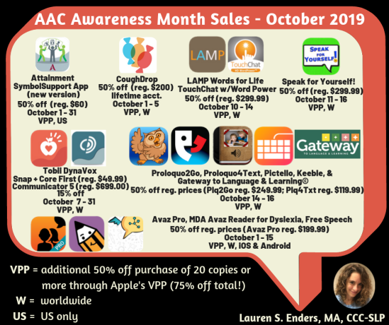 AAC Apps on offer October 2019