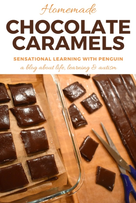 Homemade Chocolate Caramels (Almost Too Tasty!) #homemade #candy #homemadesweets