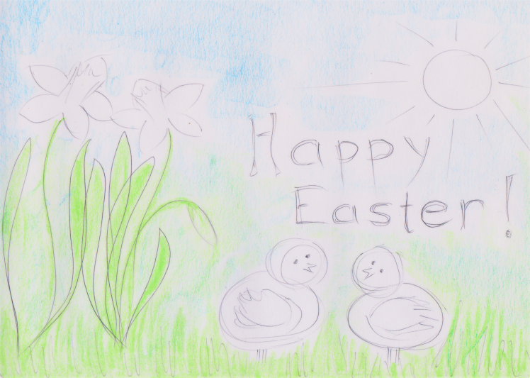 Happy Easter Playdough Mat by sensationallearningwithpenguin.com
