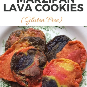 Baking Together: Colourful Marzipan Lava Cookies #homebaked #glutenfree #lifeskills sensationallearningwithpenguin.com